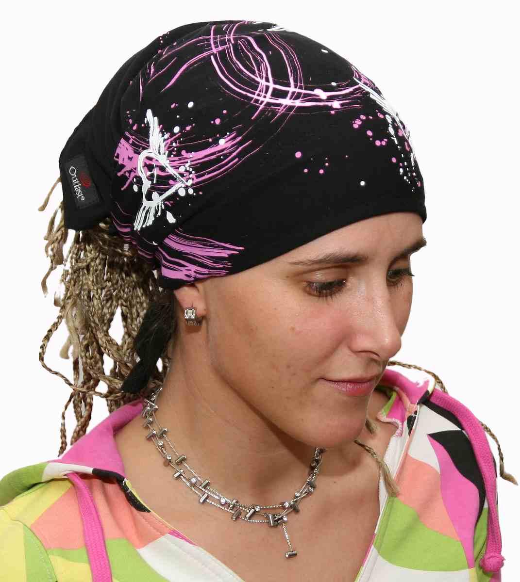 Sportovní vázací šátek trojúhelníkového tvaru na hlavu nebo na krk dea116091a