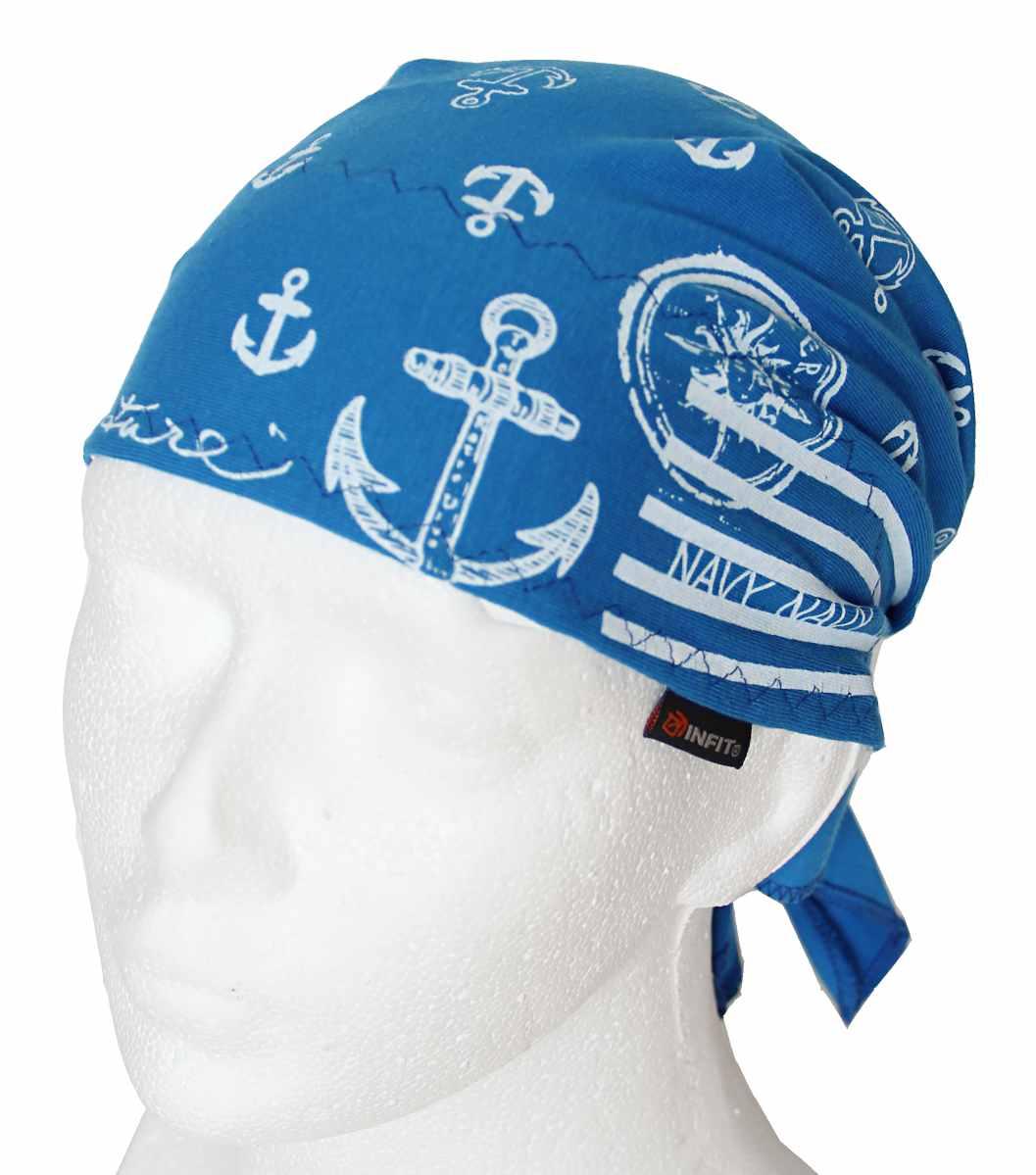 Dětský pirát trojúhelníkový šátek modrý vzor Námořník. Novinka b1a9e00fdc
