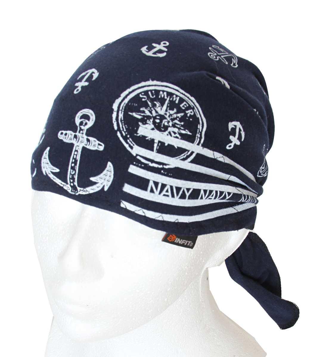 Dětský pirát trojúhelníkový šátek tmavě modrý vzor Námořník. d36046954b