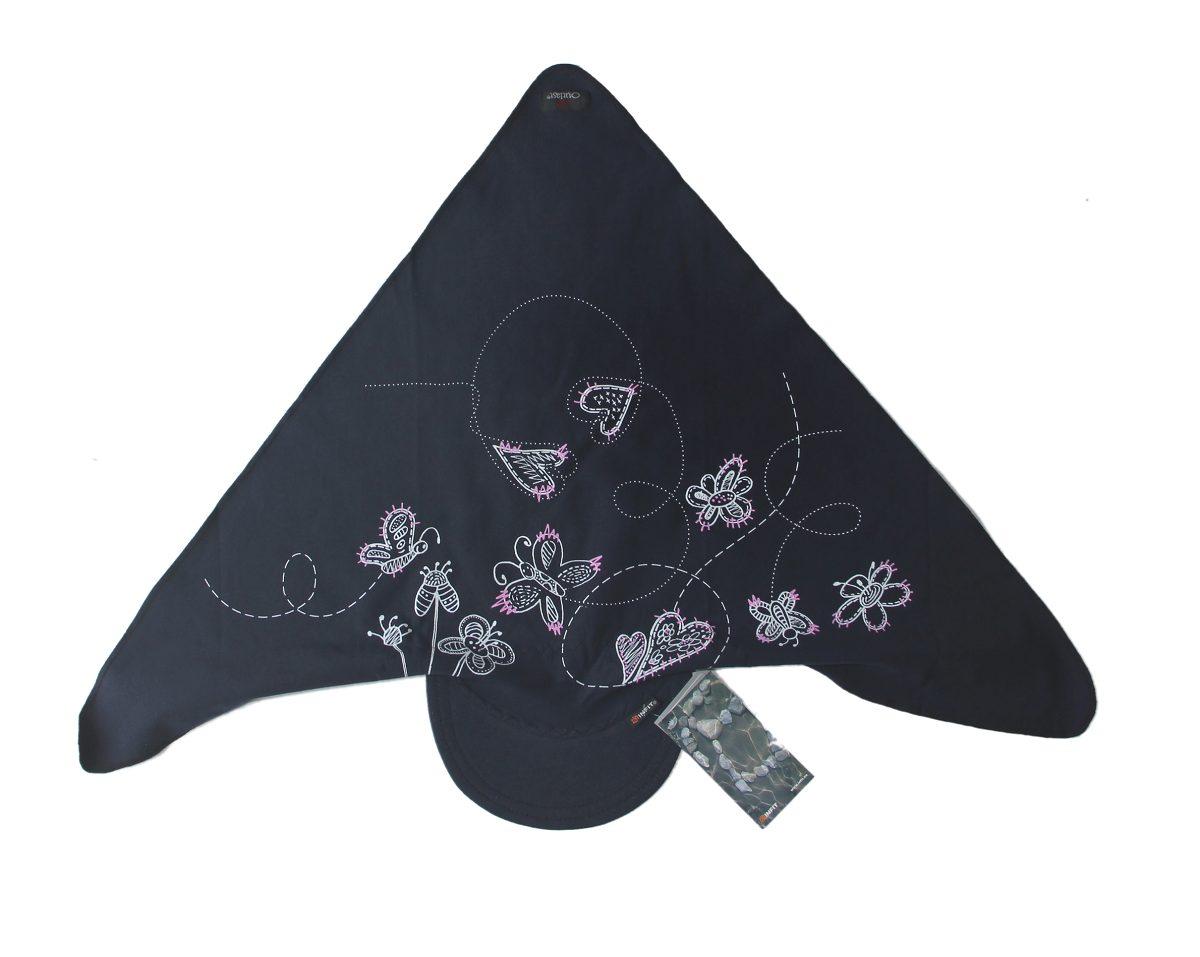 564a831ddb0 Dětský šátek s kšiltem tmavě modrý