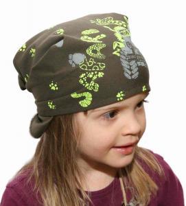 Dětský pirát trojúhelníkový šátek khaki  vzor Safari