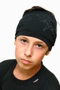 šátek na sport na krk nebo na hlavu. strukturovaná pletenina Plástve.