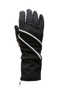větruodolné a paropropustné membránové rukavice zateplené plyší