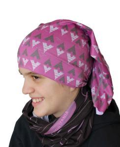 Dětská Wintertube vzor TeePee 2 (malinová) jako volný šátek.