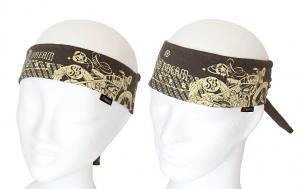 Fitness a Biker  vázací čelenky khaki vzor Motokolo.