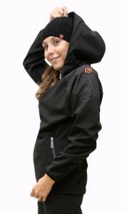 Karmíne  sportovní dámská soft shell bunda černá