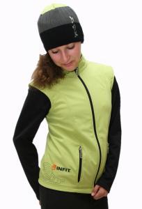 Karmíne dámská soft shell vesta pistáciová