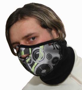 Větruodolná a paropropustná obličejová maska na lyžování, turistiku i do extrémů