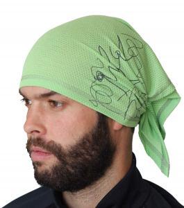 Trion šátek zelenkavý vzor Plástve