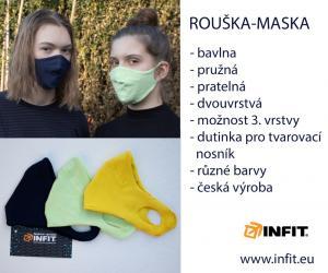 Rouška - stejně jako ostatní výrobky, jsme jí vyrobili v Česku, v naší dílně.