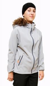 Karmíne  dámská soft shell bunda sv. šedá