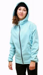Karmíne  funkční dámská soft shell bunda světle tyrkysová