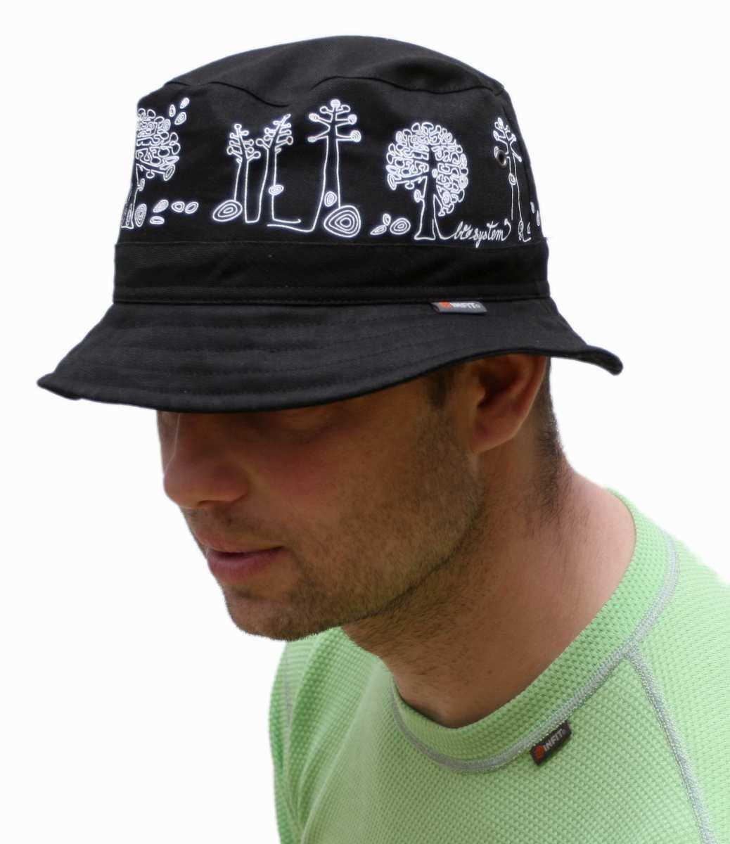 Daen letní klobouk černý vzor Stromy 2ed9877172