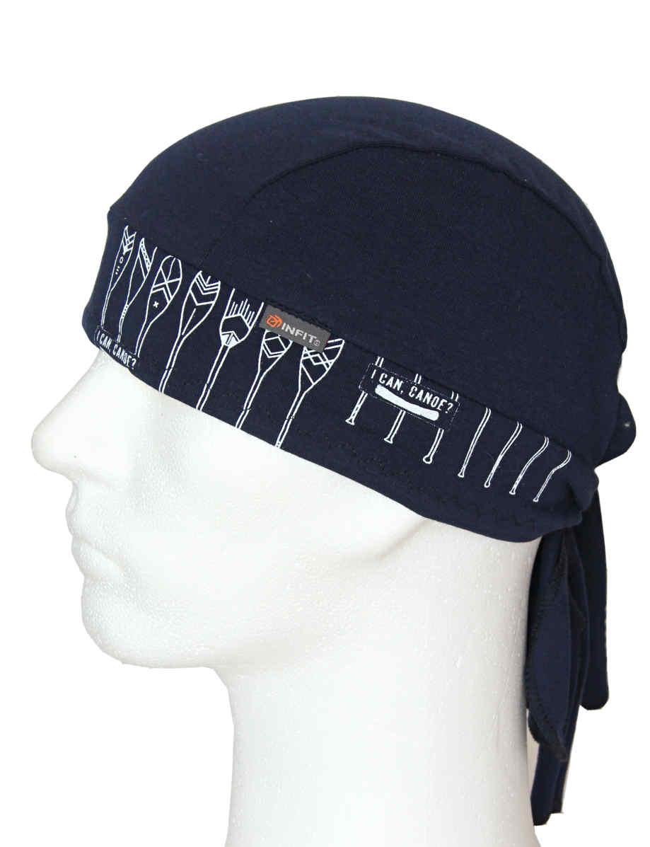 Redy tvarovaný šátek tmavě modrý vzor Pádla d1e26231a4