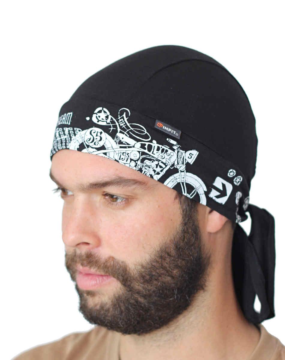 4be9fb5e770 Redy tvarovaný šátek černý vzor Motokolo