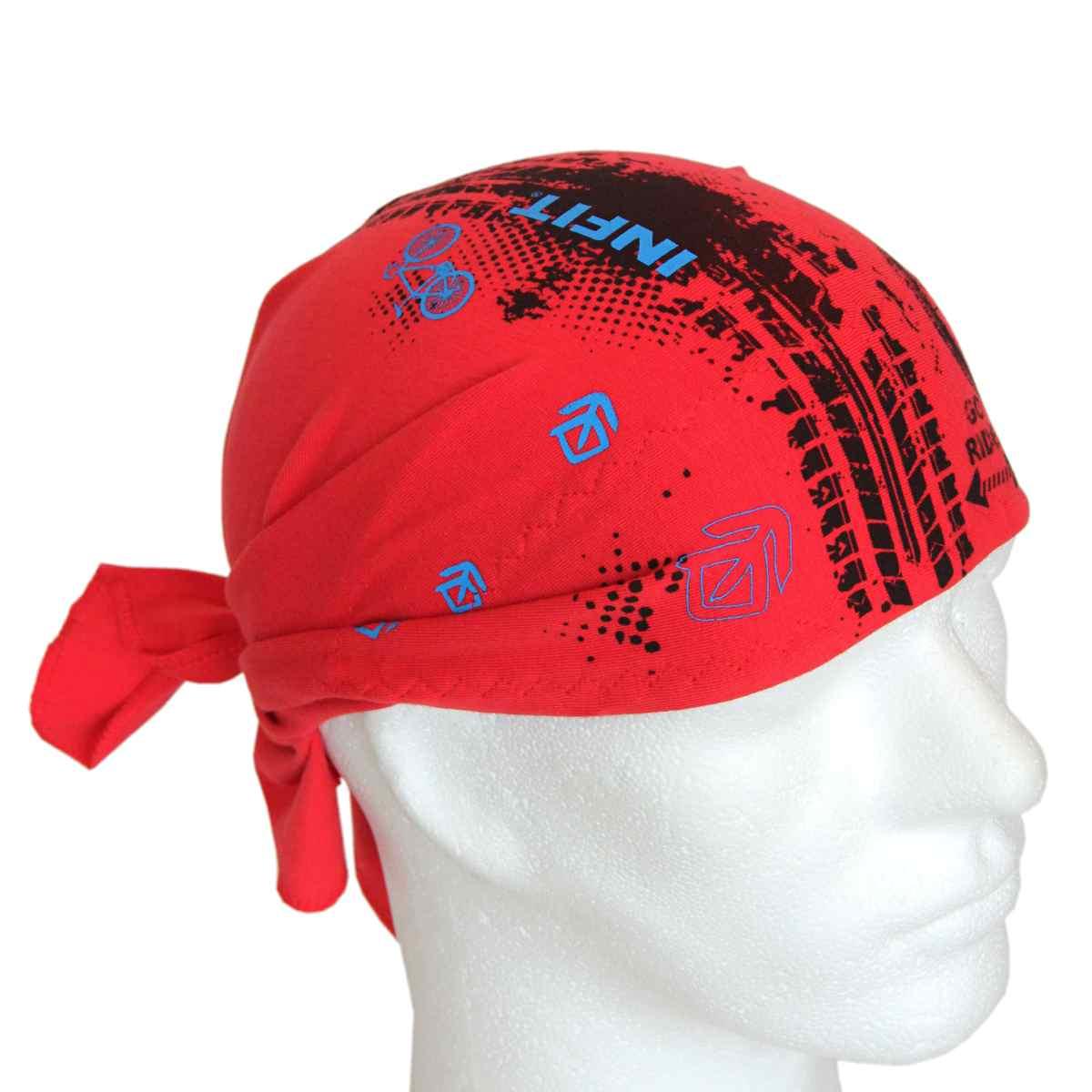 Pirát trojúhelníkový šátek dvouvrstvý červený vzor Pneu 630e5811d5