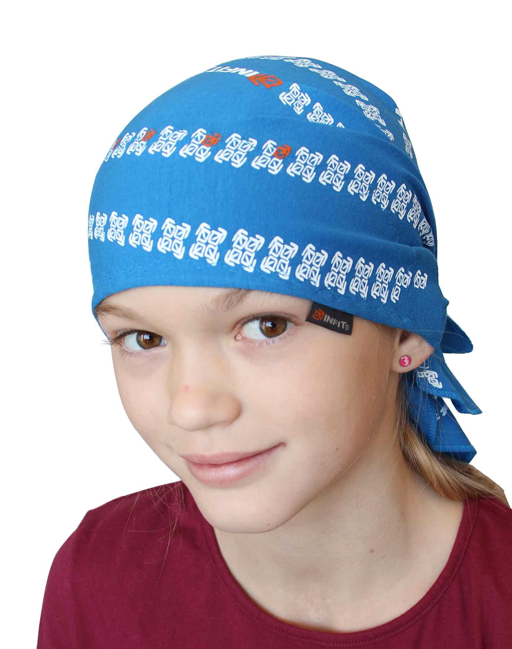 Pirát trojúhelníkový šátek dvouvrstvý světle modrý d702ec9054
