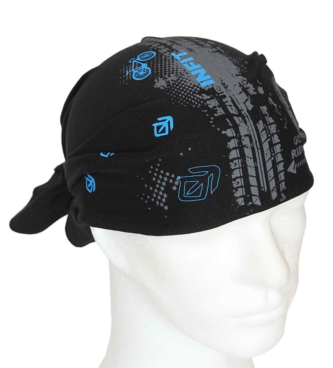 Pirát trojúhelníkový šátek černý a tmavě modrý vzor Kairos · Sportovní  vázací šátky Infit 5b348157e6