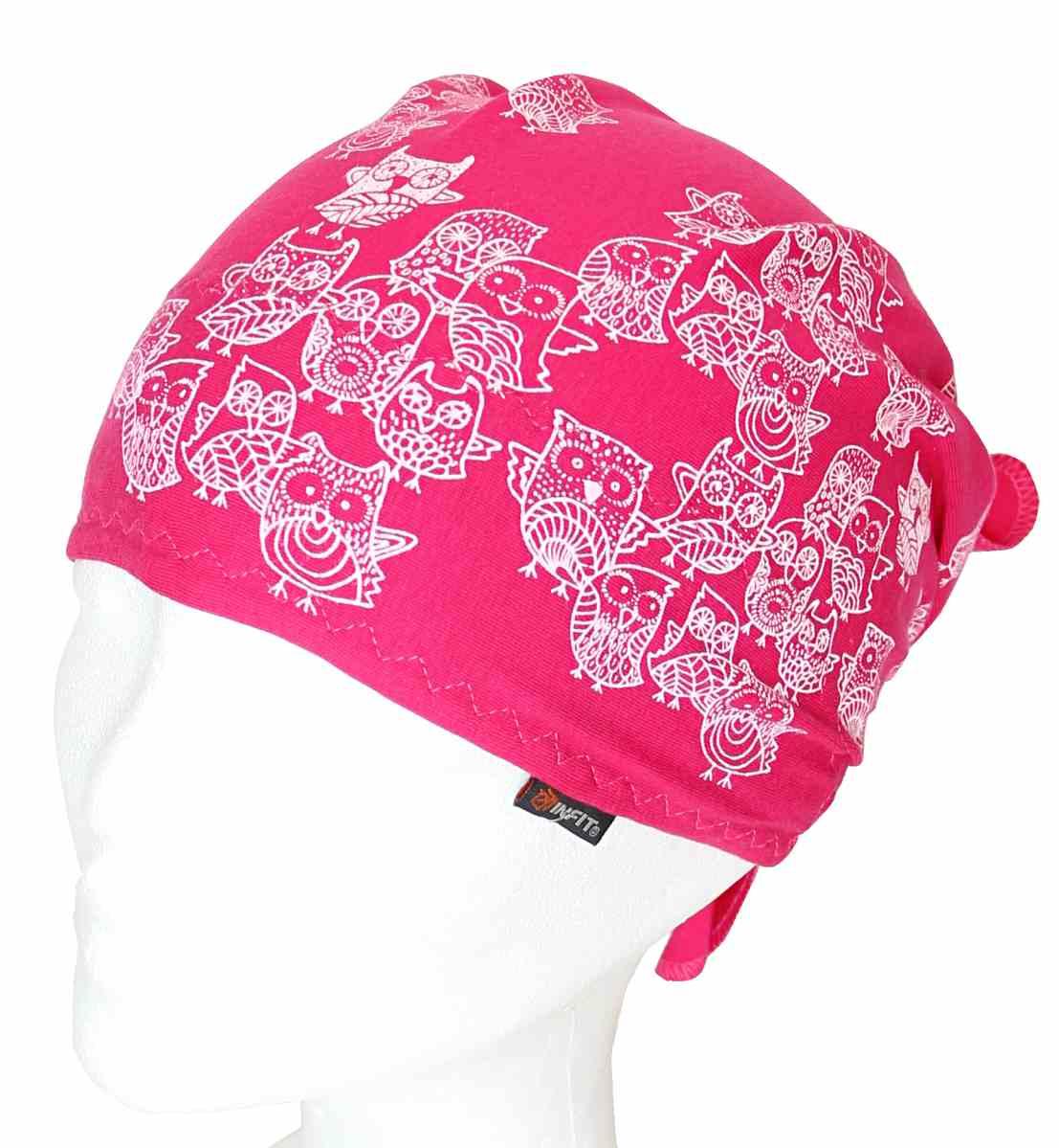 Dětský pirát trojúhelníkový šátek červený vzor Sovy. Novinka 2014 bb102c73da