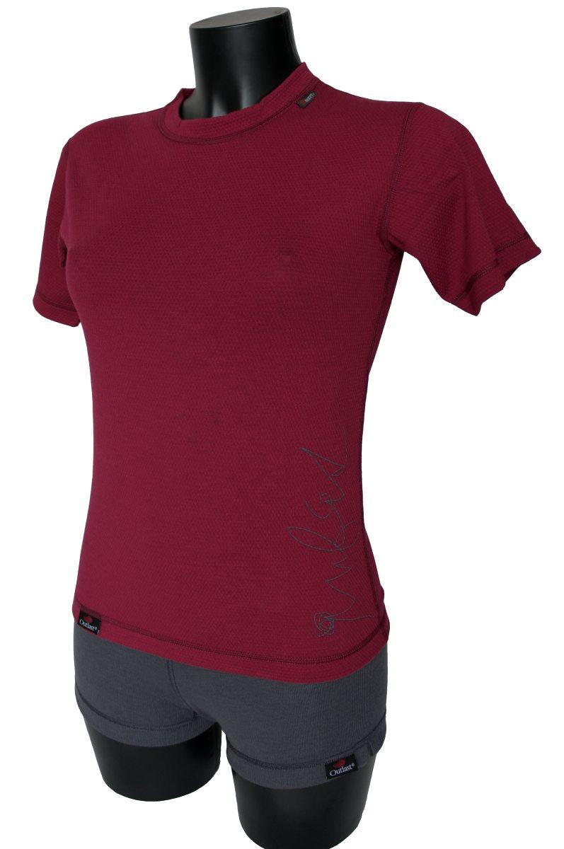 Outlast Plástve dámské triko s krátkým rukávem 2 bordó (sportovní ... b764ac3fbf