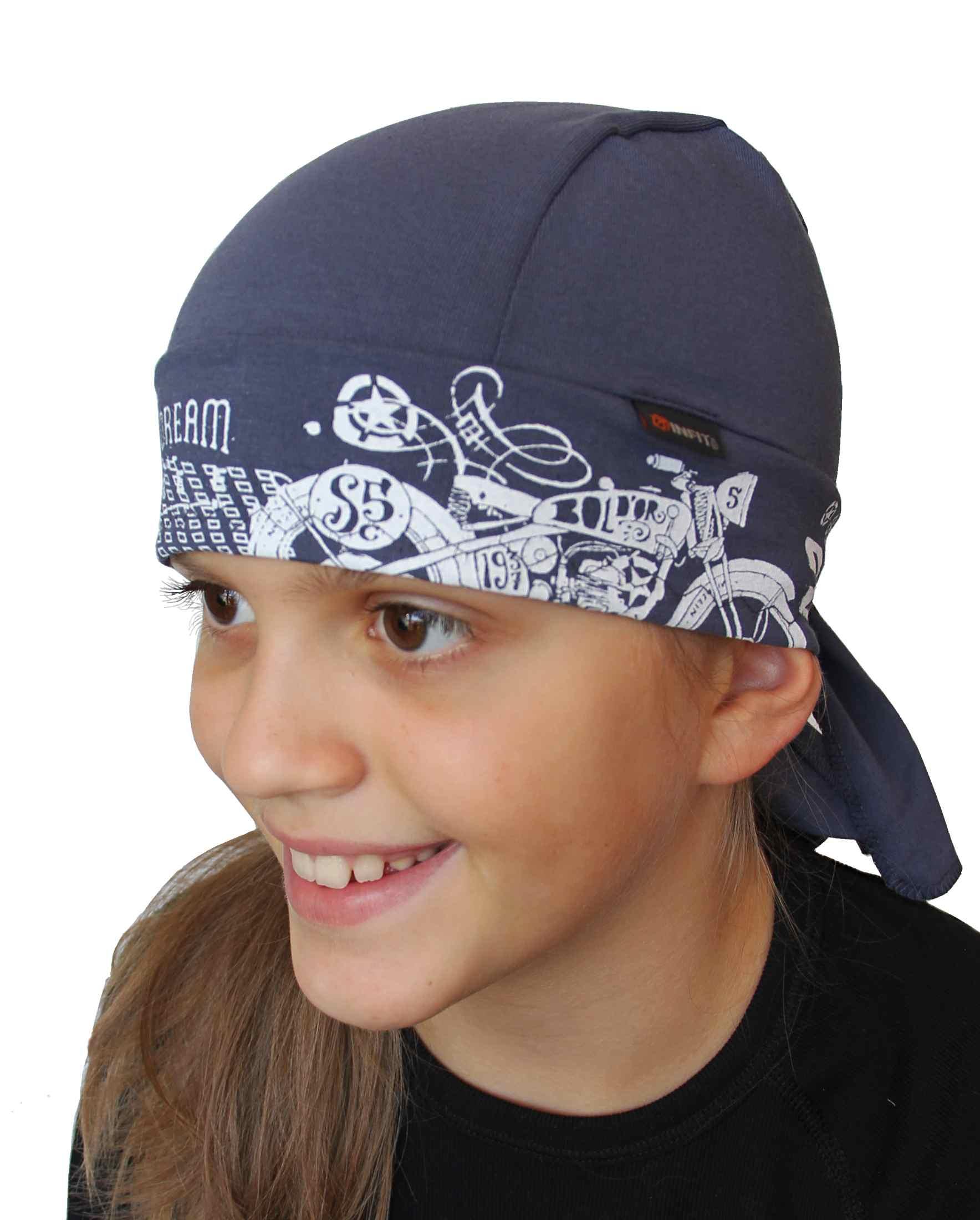 Funkční šátek s kšiltem pro děti na jaro a léto. 429d904141