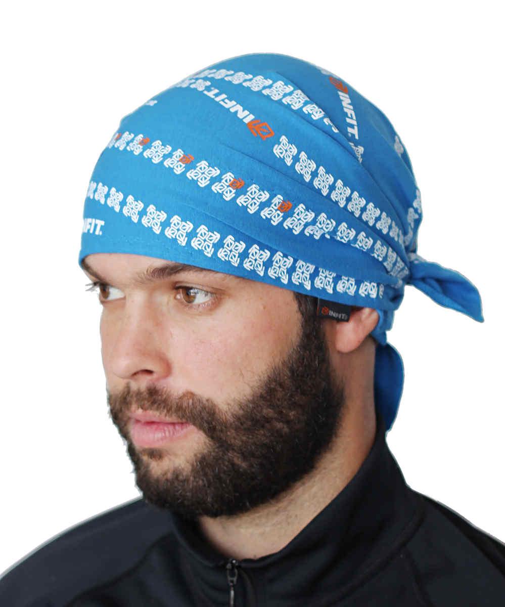 Pirát trojúhelníkový šátek dvouvrstvý světle modrý vzor Vlny 1 a4ce40b1c4