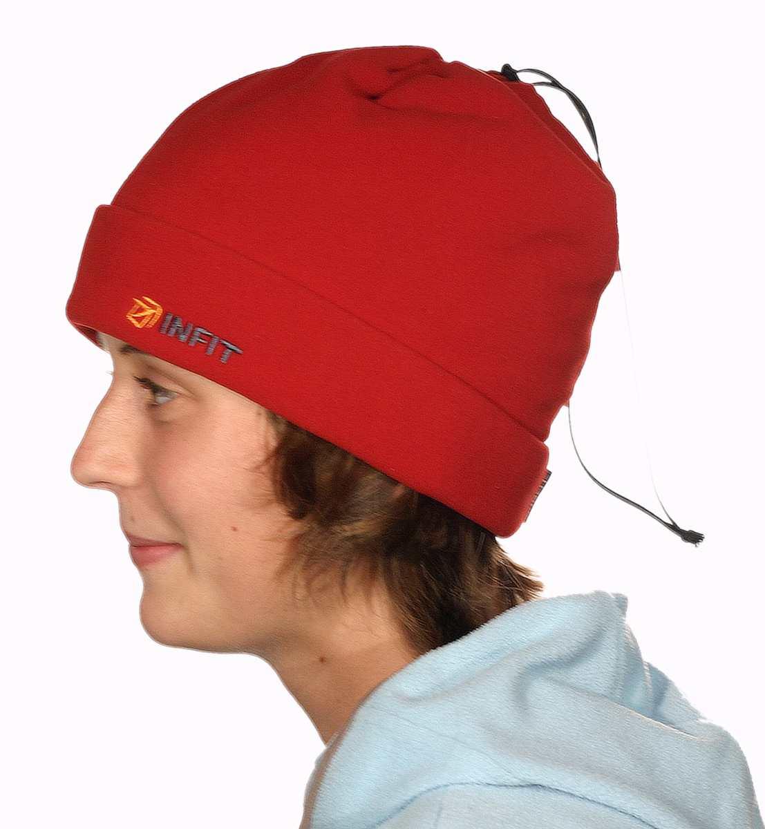 Šáločepice čepice - maska na obličej - nákrčník barva červená 45673bfde4