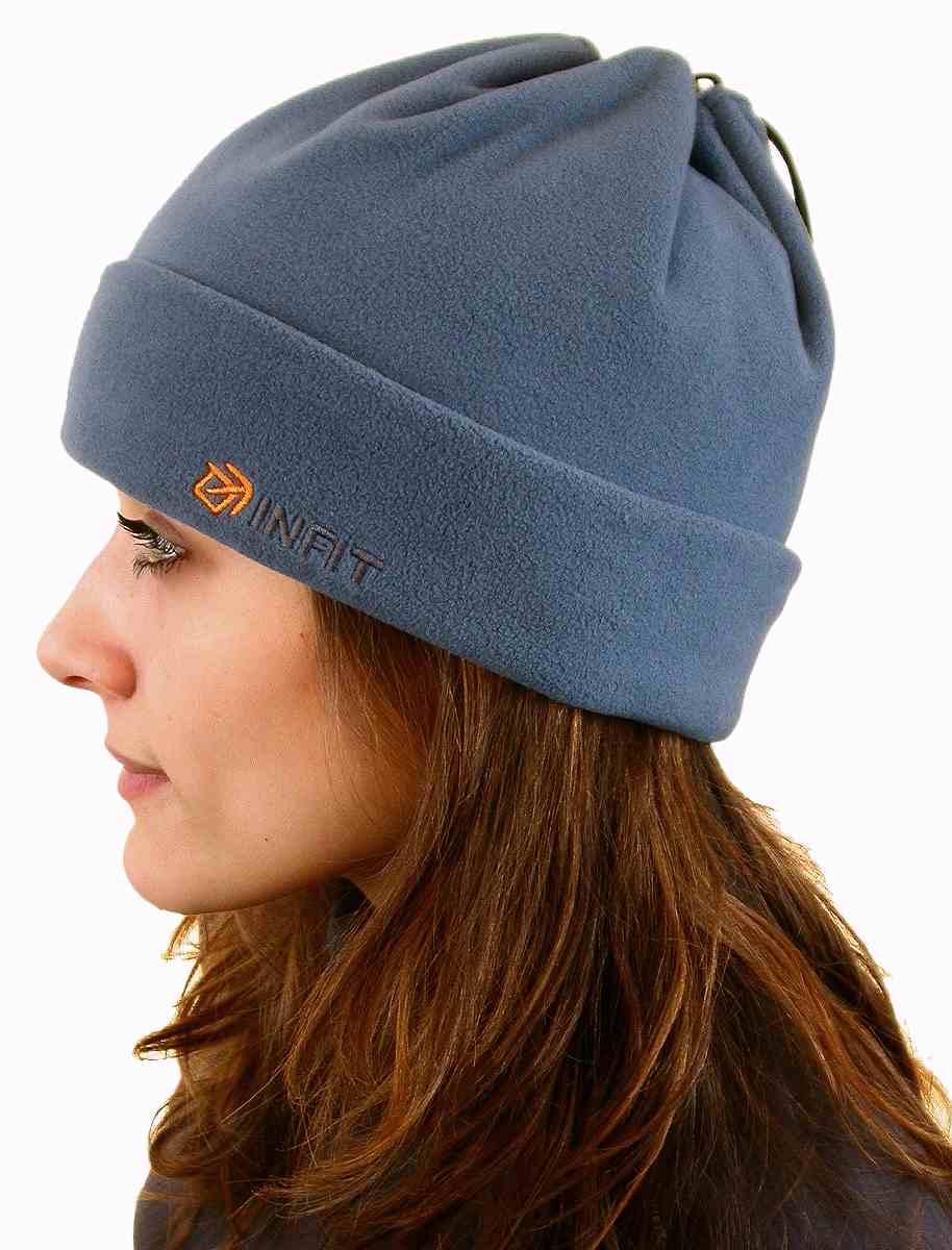 Šáločepice čepice - maska na obličej - nákrčník barva kouřově modrá 3486ba4347