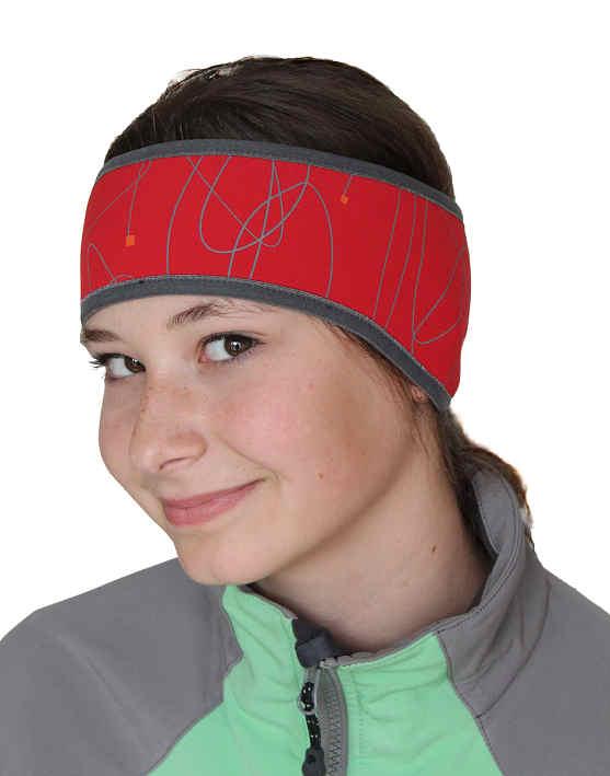 1b32ea6541c Sportovní soft shell čelenka s membránou · Moss čelenka přes uši červená ·  Moss čelenka přes uši červená